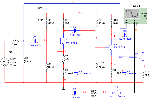 四种电路图画法-四、实验内容与步骤   在   环境下,并画出下图   所示电路