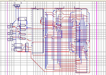 实验二 单片机存储器扩展电路 pcb图的自动布局和布线