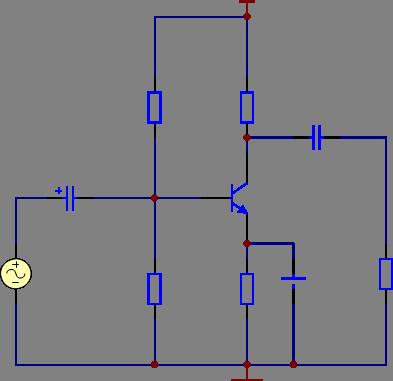 单管交流放大电路仿真实验图