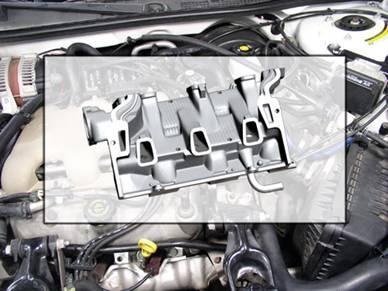 空气流量(maf)传感器串联安装在进气管道中